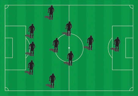 Soccer Field Defensive Formations